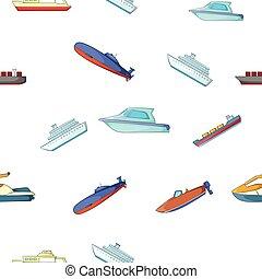Maritime transport pattern, cartoon style