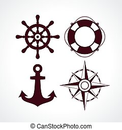 Maritime travel icons