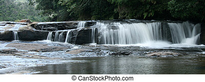 mariyudo, waterval, trek, iriomote, eiland, okinawa, japan