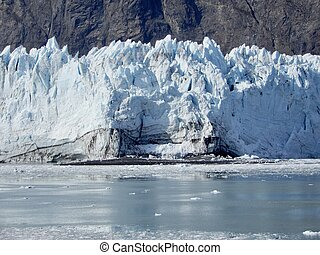 Marjorie Glacier, Glacier Bay - Marjorie Glacier in late ...