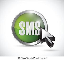 markör, design, knapp, sms, illustration