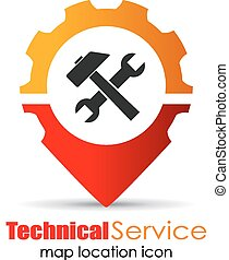 markör, lokalisering, service