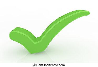 mark., 녹색, 수표