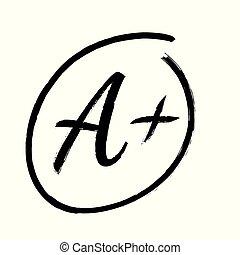 Mark a+ vector icon