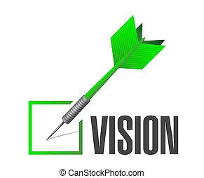 mark, concept, controleren, visie, meldingsbord