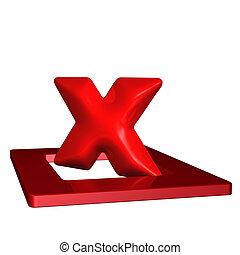 mark, kruis, rood, 3d