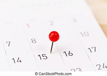 Mark on the calendar at 15.