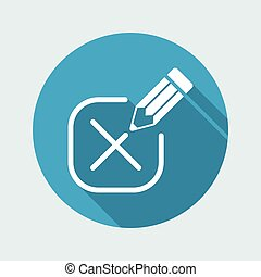 Mark option - Minimal vector icon