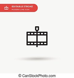 Mark Simple vector icon. Illustration symbol design template for web mobile UI element. Perfect color modern pictogram on editable stroke. Mark icons for your business project
