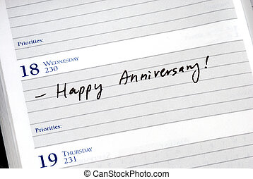 Mark the anniversary in the planner