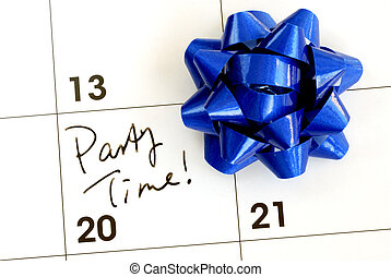 Mark the Party Time on the calendar