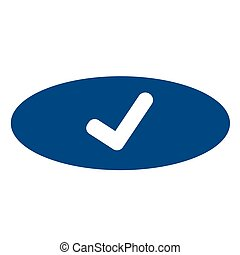 mark, tick, controleren, pictogram