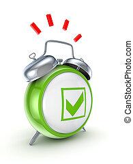 mark., tique, vert, montre, vendange