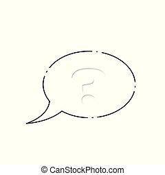 mark., vecteur, question, illustration.