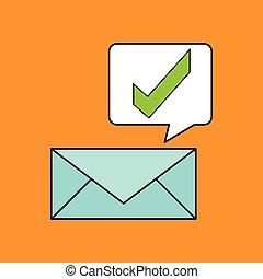 marka, projektować, email, czek