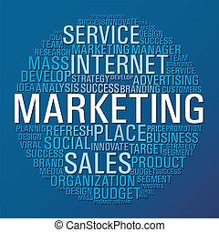 markedsføring, cirkel, kommunikation