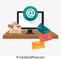 markedsføring, email, design.