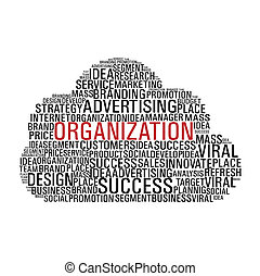 markedsføring, sky, kommunikation, isoleret