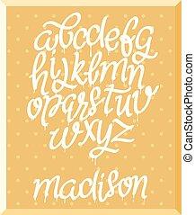 marker alphabet set, vector illustration EPS.