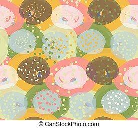 Marker circles green orange and pink