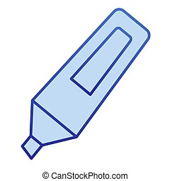 Marker color icon. Opened highlight waterproof pen symbol, gradient style pictogram on white background. Office or stationery item sign for mobile concept and web design. Vector graphics.