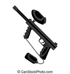 Marker for paintball. Paintball single icon in monochrome style vector symbol stock illustration web.