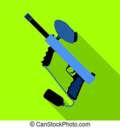 Marker for paintball.Paintball single icon in flat style vector symbol stock illustration web.