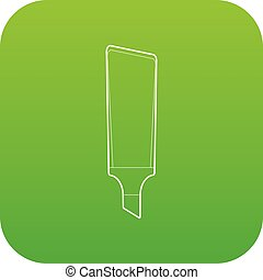 Marker icon green vector