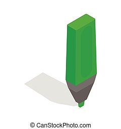Marker icon, isometric 3d style