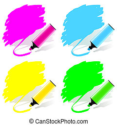 Marker labels set - Highlighted labels by a marker in a...