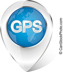 Marker navigation vector - Marker for gps navigation vector