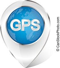Marker for gps navigation vector
