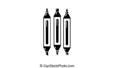 Marker pen icon animation