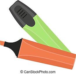Marker pen icon flat, cartoon style. Isolated on white background. Vector illustration.