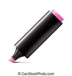 Marker pen isolated on white vector