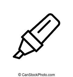 marker thin line icon