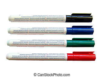 Markers 4 - Isolated four markers to write on a compact disk