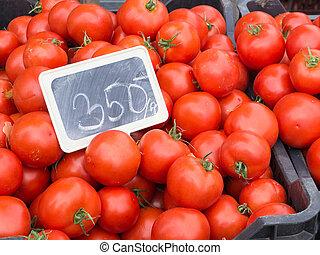 market., 야채, 농부, 신선한