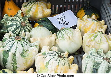 market., 호박, 농부, 신선한
