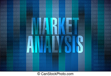 market analysis binary background sign concept