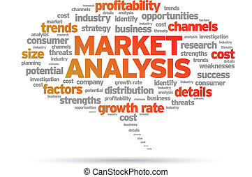 Market Analysis speech bubble illustration on white...
