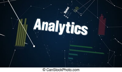 Market, Analytics ,Strategy, Target, Management, Text animation 'APPROACH'