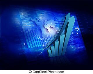 Market Analyzing, Business graph background