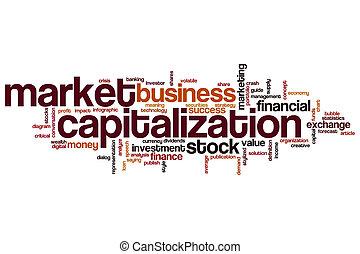 Market capitalization word cloud concept