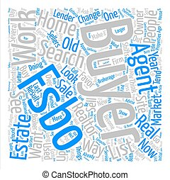 Market Changes Favor FSBOs text background word cloud concept