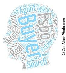 Market Changes Favor FSBOs text background wordcloud concept