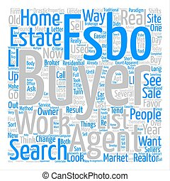 Market Changes Favor FSBOs Word Cloud Concept Text Background