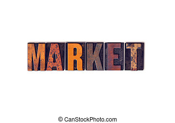 Market Concept Isolated Letterpress Type