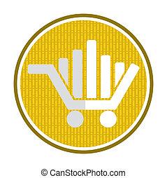 Market concept, shopping car icon