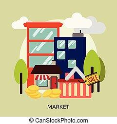 Market Conceptual illustration Design